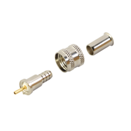 Conector Mini UHF Macho de crimp para cables RG-58/U, RG-142/U