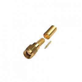Conector SMA Macho de crimp para cables RG-142/U, LMR-195